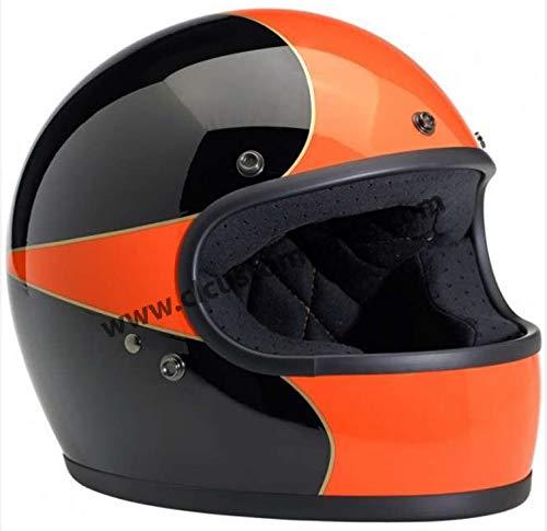 Biltwell Gringo LE Spectrum - Casco Integral (Talla S), Color Negro y Naranja