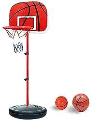 YunNasi Canestro da basket stabile e regolabile in altezza con palla e pompa adatto per bambini e ragazzi