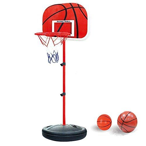YunNasi Stabiler und Höhenverstellbar Basketballkorb mit Ball & Pumpe für Kinder und Jugendliche geeignet (Mini-basketballkorb Outdoor)