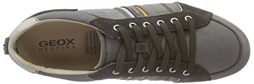 Geox - U Houston A, Sneaker basse Uomo Grigio (Dove Grey/Mud C1556)