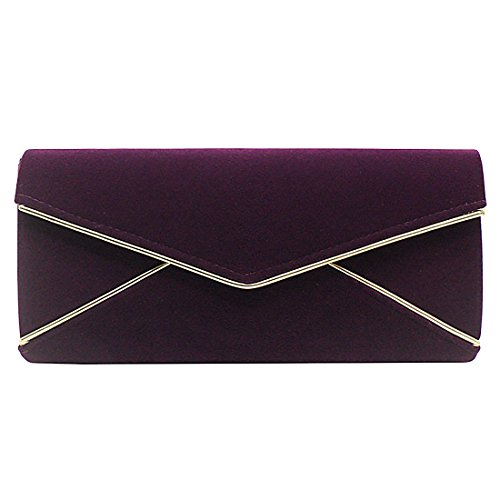 YYW Evening Bag, Poschette giorno donna Purple