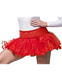 Ladies Black White Red Blue Green Orange Yellow Pink Tulle Petticoat Burlesque Tutu Skirt Fancy Dress