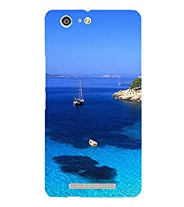 PrintVisa Beautiful Sea 3D Hard Polycarbonate Designer Back Case Cover for Gionee Marathon M5