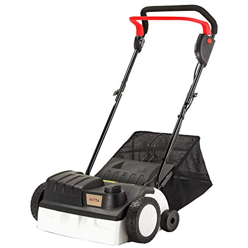 NETTA Electric Lawn Scarifier and Aerator 2 in 1 | 1400W Power & 5 Working Depths, Long 10m Power Cord