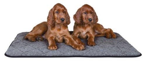 FamilyZoo ® | Hunde und Katzen Wärme-Unterlage | grau 70 × 50 cm | Thermodecke | wärmespeichernd