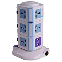 Hard Material Vertical Power Socket Multi function Plug Universal Socket 4 USB 3m long extension charge