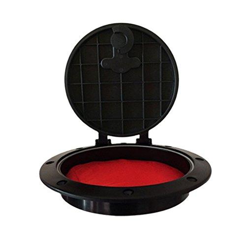 MagiDeal 8 Zoll Inspektionsdeckel Lukendeckel mit Aufbewahrungsbeutel (Schraube Aus Schwarzem Deck-platte)