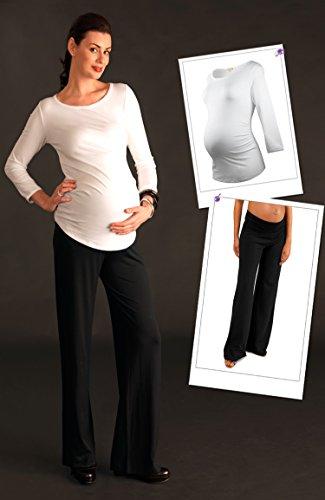 Picchu T-Shirt de maternité à manches longues Blanc