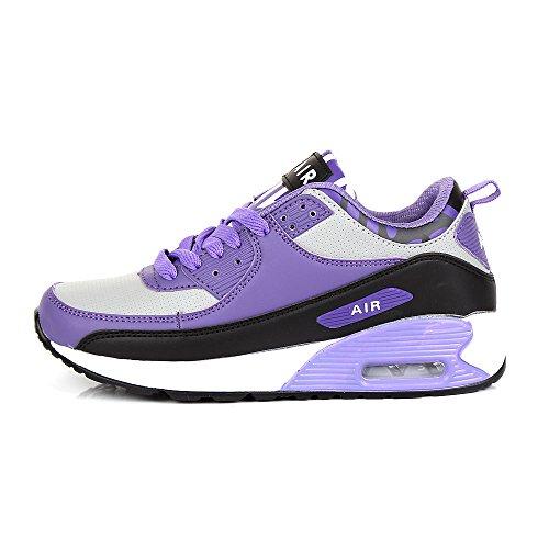 Baskets de running Air anti-choc Fitness Gym Sport pour femme Violet