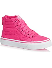 VANS KIDS SK8-HI ZIP Schuh 2017 neon canvas pink/true white