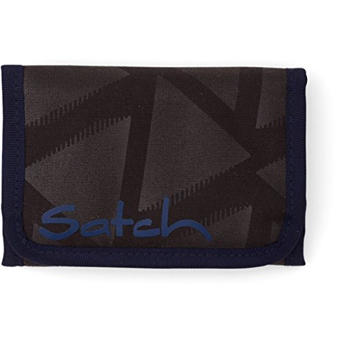 Satch rimbalzo Münzbörse SAT-WAL 001-801, 13 cm, 1 L, Nero Nero (Heatembossed Pyramide)