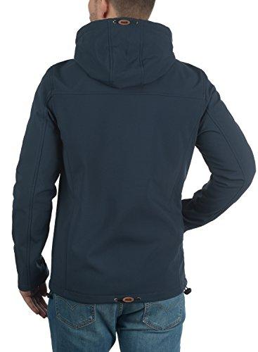 INDICODE Jonas Herren Softshell-Jacke Outdoor Übergangsjacke mit Kapuze aus winddichtem und hochwertigem Material Navy (400)