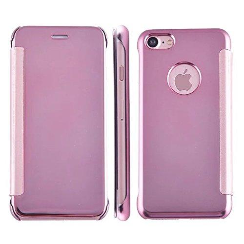 Meimeiwu Mirror Custodia - Frame Bumper Caso Cellulare Cover Case Protettiva Per iPhone 7 - Dark Blue Rose Oro