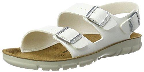 Birkenstock Kano, Sandales À Bride Cheville Unisexe - Blanc Adulte