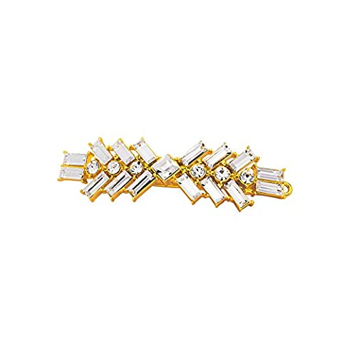 Lanfan Lady hairpin/clip import crystal surface gilded (White)