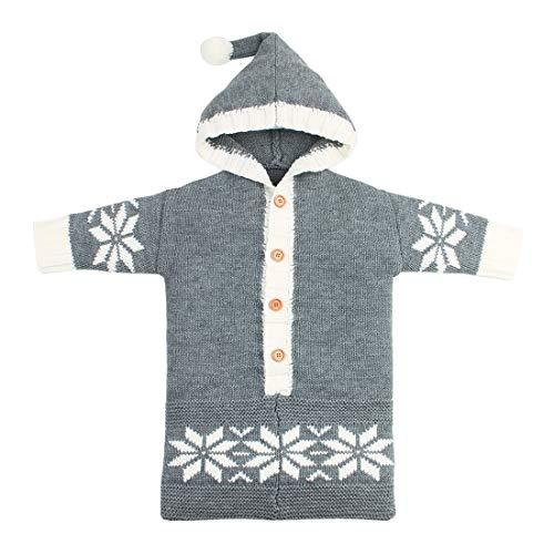 Yeying123 Neugeborene Schneeflocke Einfarbig Schlafsack Kuscheldecke Baby Niedlichen Schlafsack Im Freien Winddicht,Gray