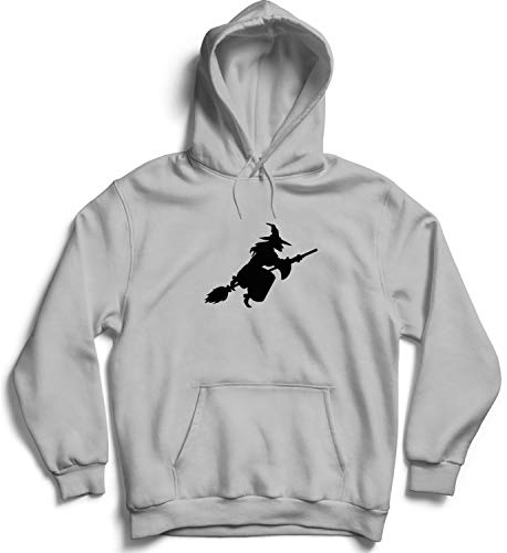 Halloween Witch Night Flight Shadow_007310 Hooded Pullover Unisex LG Black Hoodie