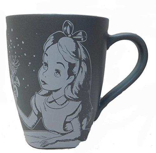 Disney Kaffeetasse Tasse Mug Pott Kaffee Disneyland Paris matt grau Alice im Wunderland