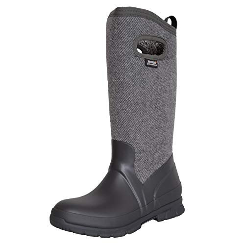 BOGS Damen Dirndl-Schuhe gefütterter Herbst/Winter Stiefel in Grau Trachten-Schuhe, Schuhgröße:37, Farbe:Grau