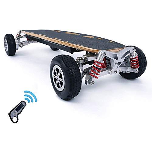 NBZH Elektro-Skateboard Off-Road, Extremsport Cruise Roller Auto mit Fernbedienung, der 45 km/h Höchstgeschwindigkeit, 30 km, 1200W Motor, Doppelantrieb Four Wheel Vacuum Reifen Longboard,12a,30km