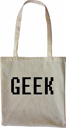 Mister Merchandise Tote Bag Geek Borsa Bagaglio , Colore: Nero Naturale