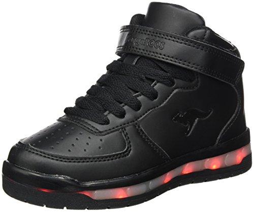 KangaROOS Unisex-Kinder K-LID Sneaker, Schwarz (Jet Black), 32 EU