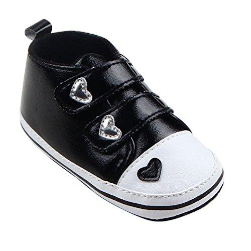Krippe Mädchen Clode® Schwarz Schuhe Sohle Weich Säuglings Sneaker x6PPIqS8w