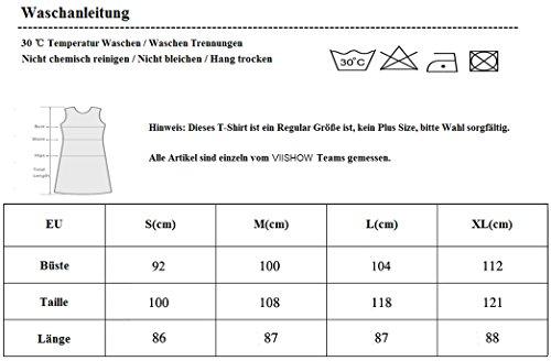 VIISHOW Damen Mini kleid Rundhals Langarm Stretch Basic Kleider 02Purple