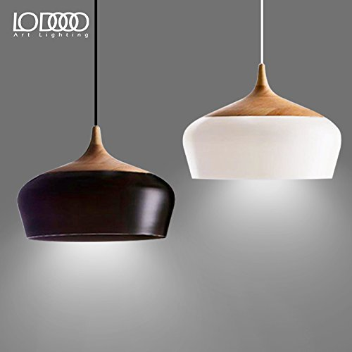 DYBLING LED Chandelier Simple Modern bedroom Corridor bar pendant lights ceiling lamp industrial wind, black queen