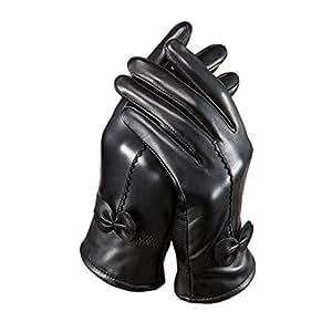 tininna damen frau winter warm luxus schaffell leder handschuhe vlies futter handschuhe mit. Black Bedroom Furniture Sets. Home Design Ideas