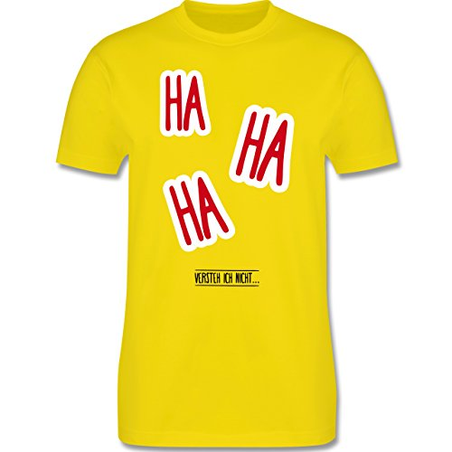 Sprüche - Ha Ha Ha - Versteh ich nicht - Herren Premium T-Shirt Lemon Gelb