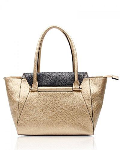 LeahWard® Mode Schultertaschen Zum DamenQualität Damen Tragetasche Handtaschen 160103 Gold