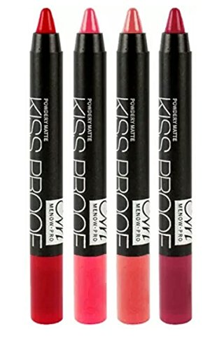 M.N Matte Crayon Lipstick Set Of 4 Enriched Color Combo