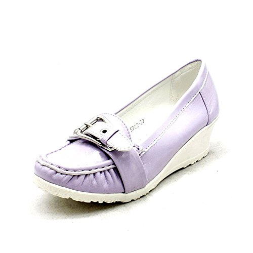 Lilac / White bas coin judiciaires brevet de coin chaussures Lilac