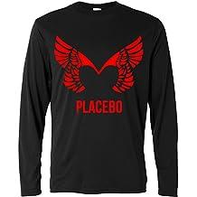 Herren Langarmshirt - Placebo - red print - Long Sleeve 100% Baumwolle LaMAGLIERIA