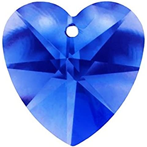 Cristallo Sfaccettato, qualità AAA Blu Ciondolo A Forma Di Cuore 18x 9mm PK1