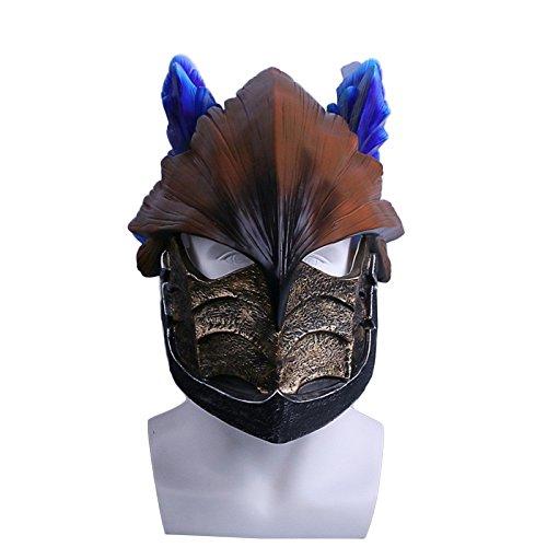 QQWE Halloween Performance Mask Juego De Película Cosplay Prop Juego Monster Hunter World Helmet Viento Drifting Dragon Máscara De Casco De PVC,A-OneSize
