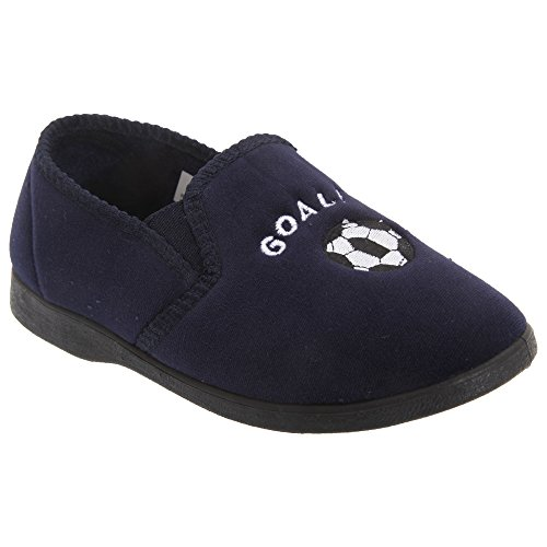 Zedzzz Kids Boys Midfield Twin Gusset Football Slippers