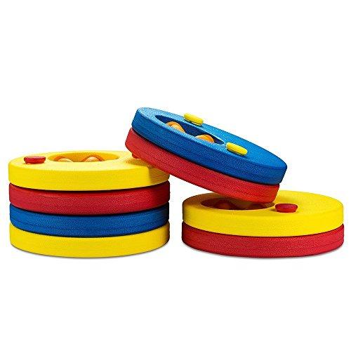 SKYSPER 8pcs Manguitos de natación para niños,flotador bebe piscina varios colores Discos Flotantes ,con certificación del producto, seguridad