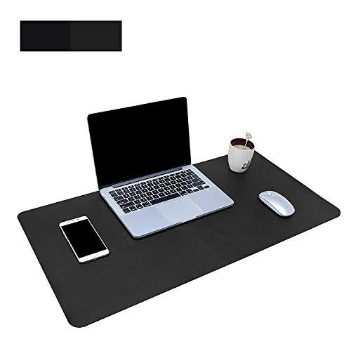 Dricar Alfombrilla de Escritorio Grande de Poliuretano Antideslizante e Impermeable para Teclado y ratón, Color Negro L