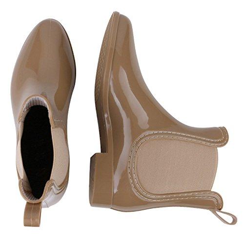 Japado , bottes en caoutchouc femme Marron - Sable