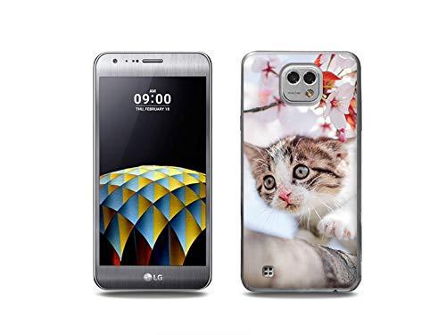 etuo Handyhülle für LG X Cam - Hülle, Silikon, Gummi Schutzhülle - Junge Katze