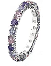 Virtue Silver Stackable VRS5001 Silver Multi Stone Cubic Zirconia Ring