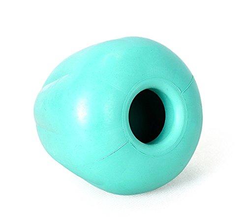TFN Hund Kauen Melone Interaktive Spielzeug Fütterung Dispenser Rubber Green,L (Hundefutter Angst)