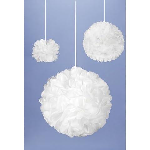 Kit di POM-POM di tessuto rende 3-bianco