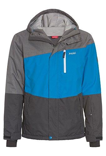 Vittorio Rossi Herren Freeride-Jacke - wasserdicht, Ski grau-blau,XL