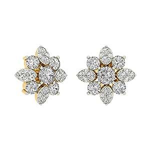 PC Jeweller The Helisenne 18KT Yellow Gold & Diamond Earring