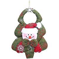 033f80e1d3e 1pcs Navidad no Tejida Tela muñeco de Nieve Colgante de muñeca para Adornos  de árbol de