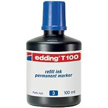 Edding T100-03 - Frasco tinta, 100 ml, color azul