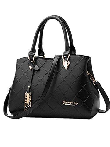 Schulterbeutel Beiläufige Black Handtaschen Handtaschen Lingge Paket Beiläufige Großes Paket OwqXH